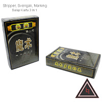 Jual alat sulap Svengali Stripper Marking (3 in one card)