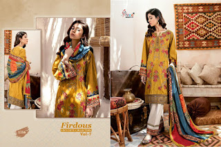 FIRDOUS EXCLUSIVES COLLECTION VOL 7 BY SHREE FAB 2020 PAKISTANI SUITS