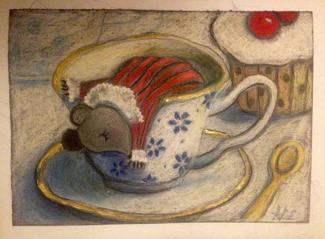 #AideLL #dormouse #aliceinwonderland #madteaparty #teacup #illustration #art