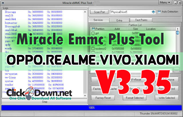 Miracle Emmc Plus Tool V1.35 | Oppo RealMe Vivo Xiaomi [Latest Update- 30th October 2019]