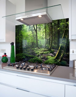 Printed Glass Backsplash