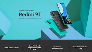 Redmi 9T HP RAM 4 GB di Bawah 2 Juta