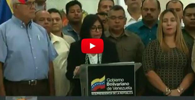 La asquerosita Delcy Rodríguez anunció aumento del pasaje