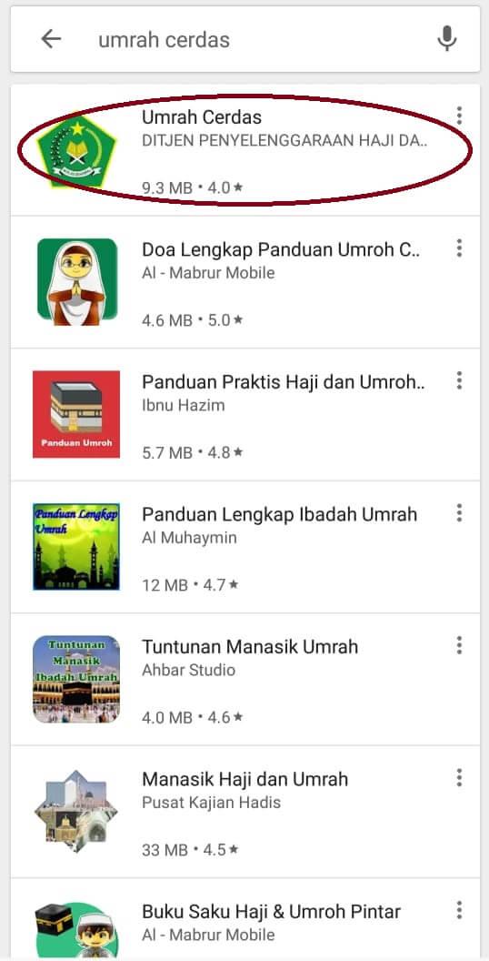 Aplikasi Umrah Cerdas resmi dari Kementrian Agama