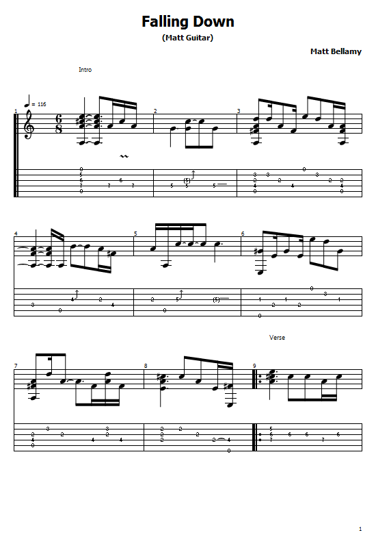 Falling Down Tabs Muse. How To Play Falling Down On Guitar, Muse - Falling Down Free Tabs/ Sheet Music. Matt Bellamy - Falling Down Free Tabs