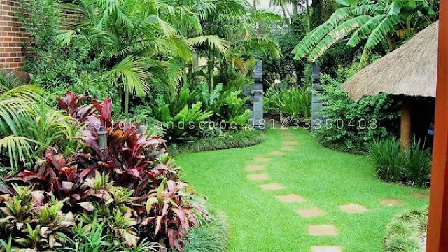 Jasa tukang taman tropis manado