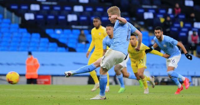 مشاهدة اهداف وملخص مباراة مانشستر سيتي وفولهام 2-0 في الدوري الانجليزي