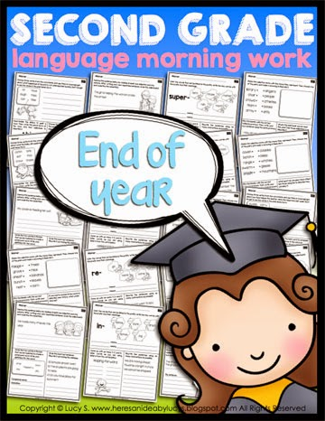 Second Grade Language Morning Work: End of Year