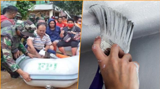 Tulisan FP1 di Perahu Relawan Bantu Korban Banjir Dihapus Cat, Munarman: Masih Terlihat