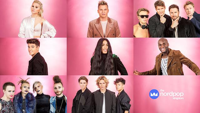 Participantes del Andra Chansen del Melodifestivalen 2017 (Photo: SVT)