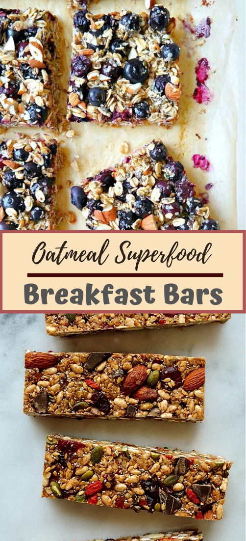 Oatmeal Superfood Breakfast Bars #healthyfood #dietketo #breakfast #food