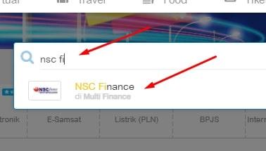 cek tagihan NSC Finance