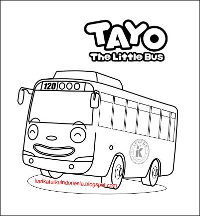 Karikaturku Indonesia Inilah 6 Gambar Mewarnai Tayo The Little Bus