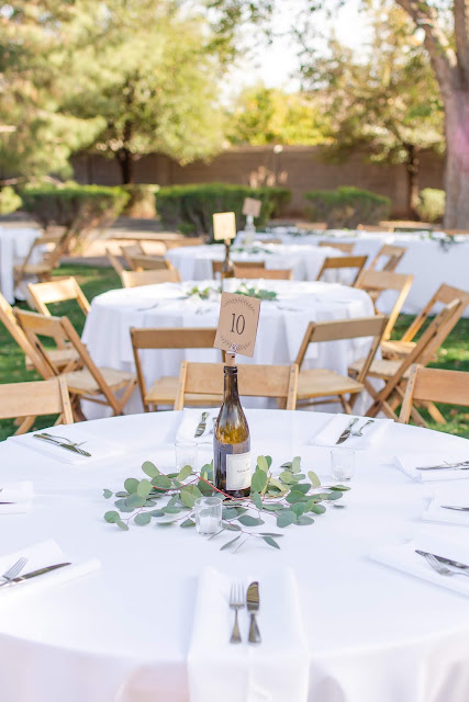 Outside reception at Shenandoah Mill in Gilbert, AZ