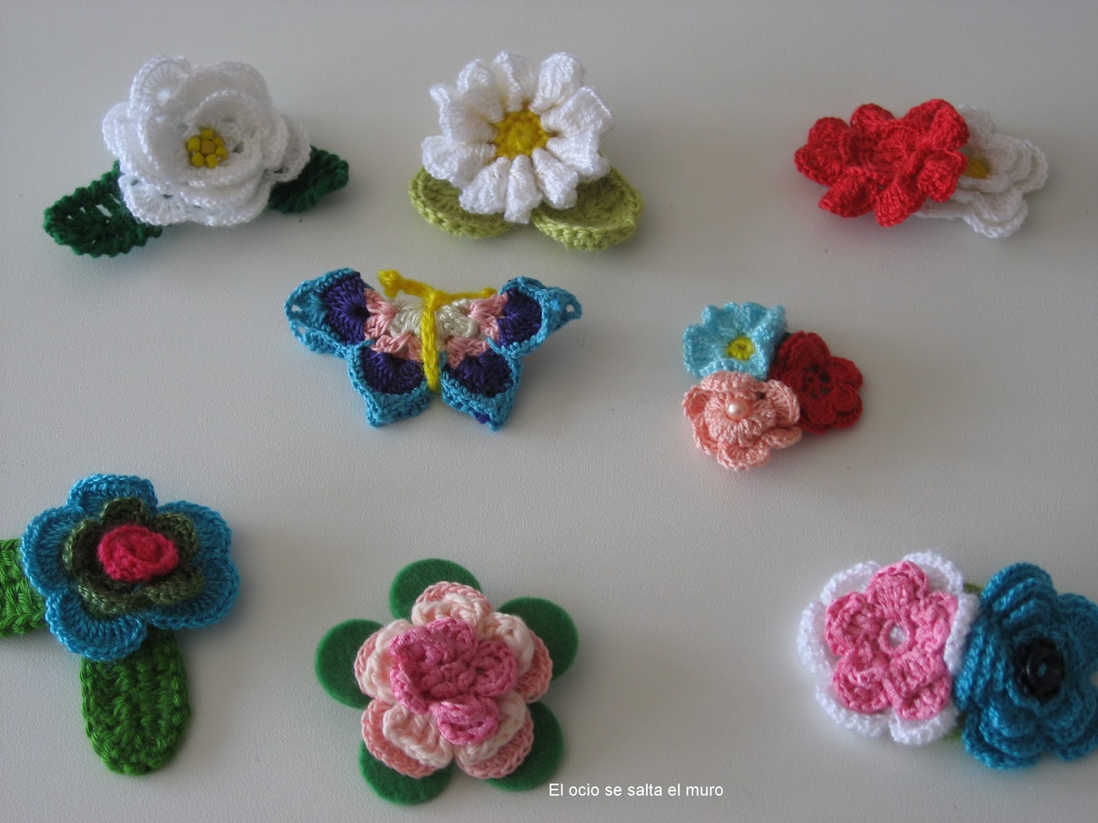 El ocio se salta el muro Flores algodn crochet