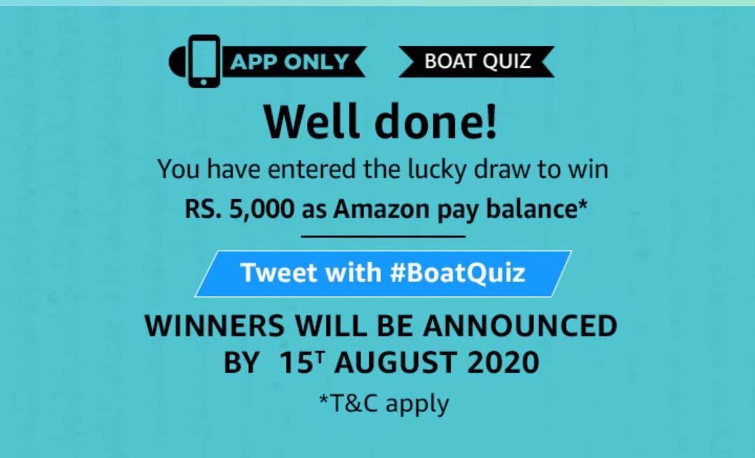 Amazon Boat Quiz Answers