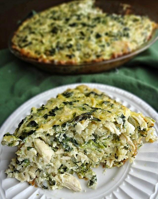 Rice, Cheddar, & Spinach Pie