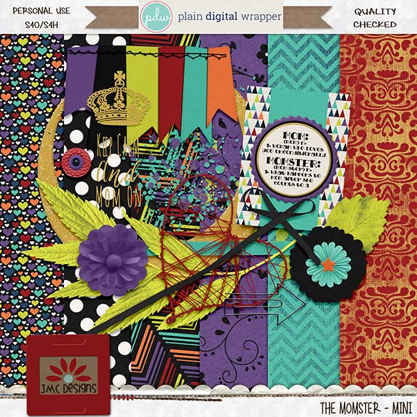 Plain Digital Wrapper DSD Blog Hop - Momster