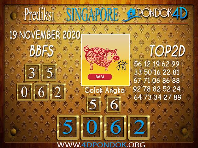 Prediksi Togel SINGAPORE PONDOK4D 19 NOVEMBER 2020