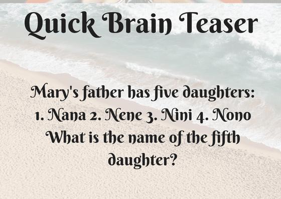 Quick Brain Teaser-Name