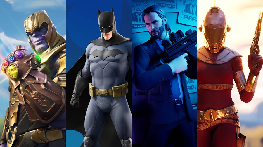 fortnite limited time crossover events avengers infinity war batman john wick star wars rise of skywalker