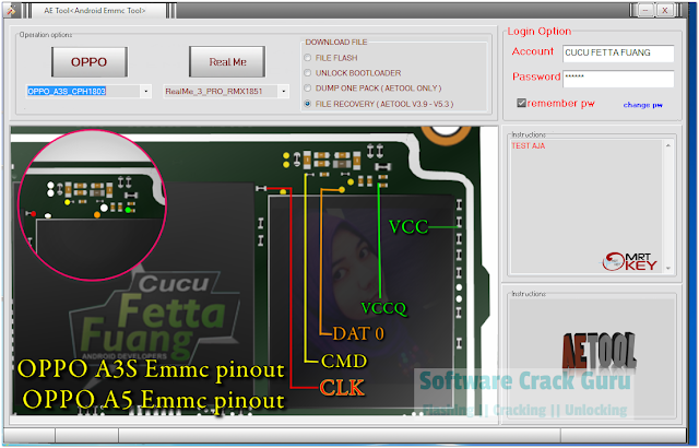 Download AE Android EMMC Tool v1.0 | Best Oppo, Realme ISP Pinout Finder Tool [2020]