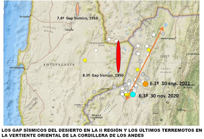Los GAP son una zona geológica en la que no ha ocurrido un sismo fuerte durante un periodo prolongado de tiempo