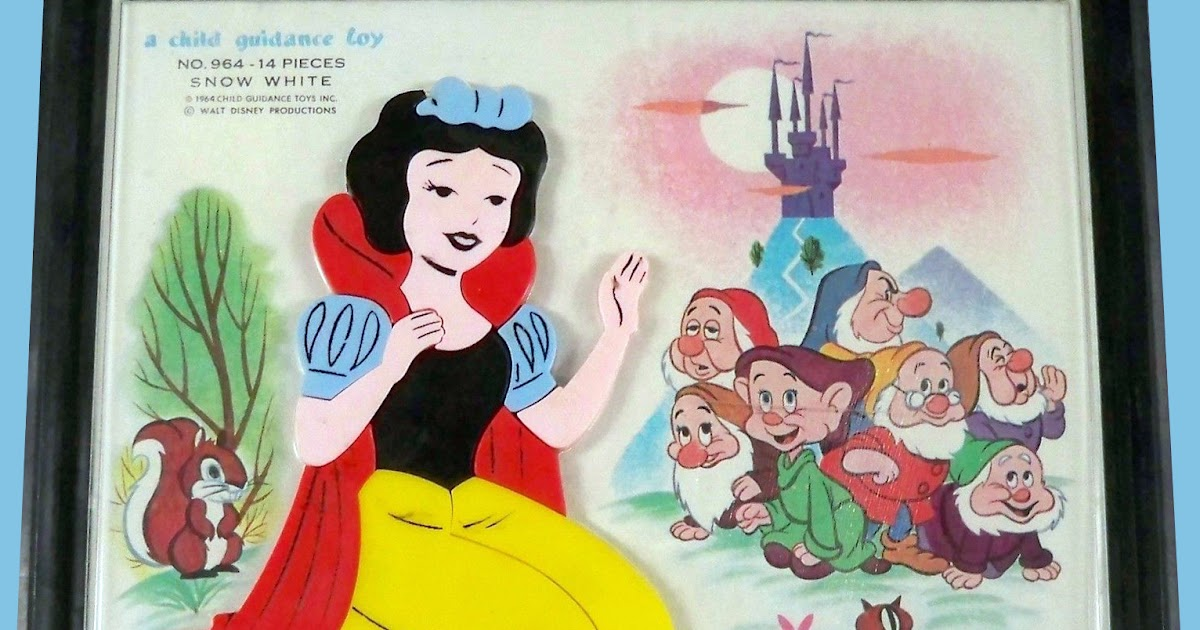 filmic light snow white archive 1964 snow white magnetic puzzle by child guidance