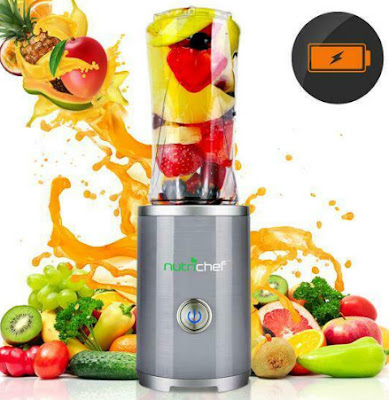 Nutrichef cordless personal portable blender