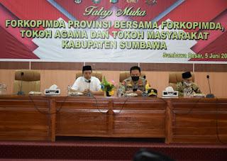 Roadshow ke Pulau Sumbawa, Gubernur Perkuat Sinergi Tangani Pandemi
