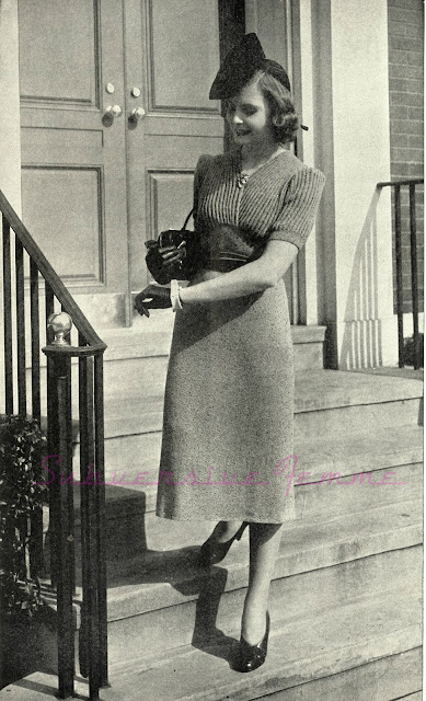 The Vintage Pattern Files: Free 1930's Knitting Pattern - A Preview of Spring Dress
