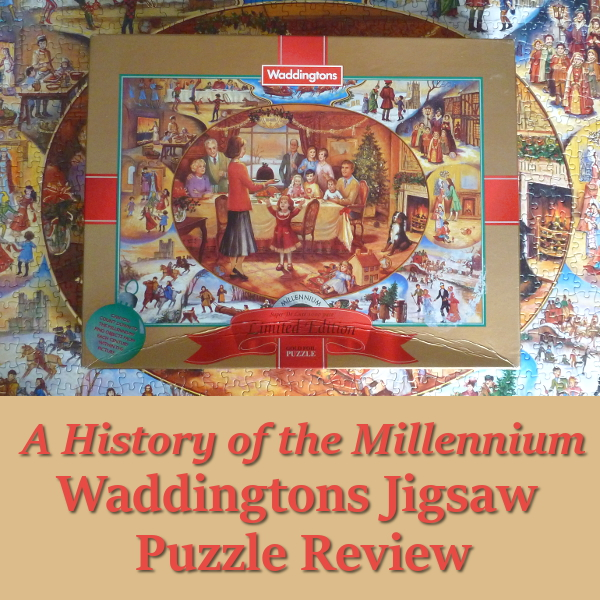 A History of the Millennium Jigsaw by Waddingtons Puzzle Review Jigsaws Puzzles Christmas limited edition gold foil Brenda Burke