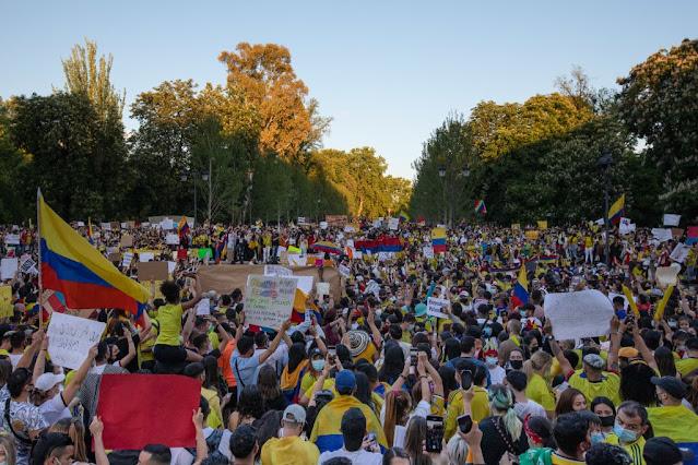 Colombia vive décimo tercer día consecutivo de protestas