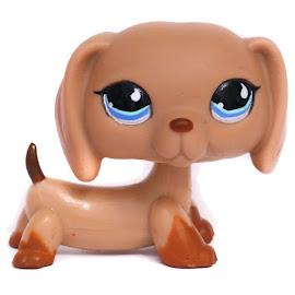 Littlest Pet Shop 3-pack Scenery Dachshund (#518) Pet