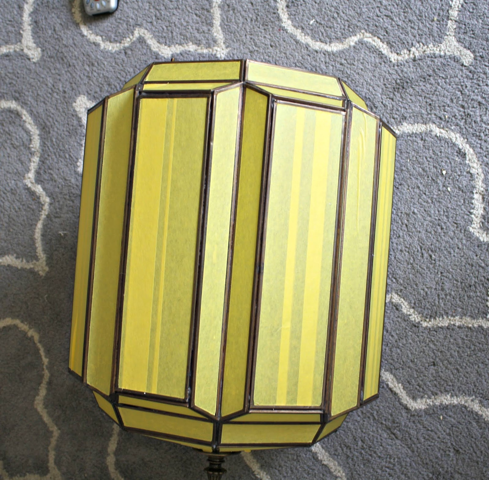 Updating 80's light fixture with spray paint