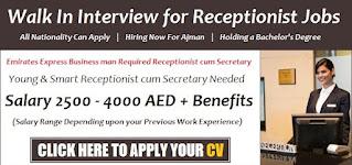Receptionist / Admin Assistant Jobs Recruitment in Al Ain 2021