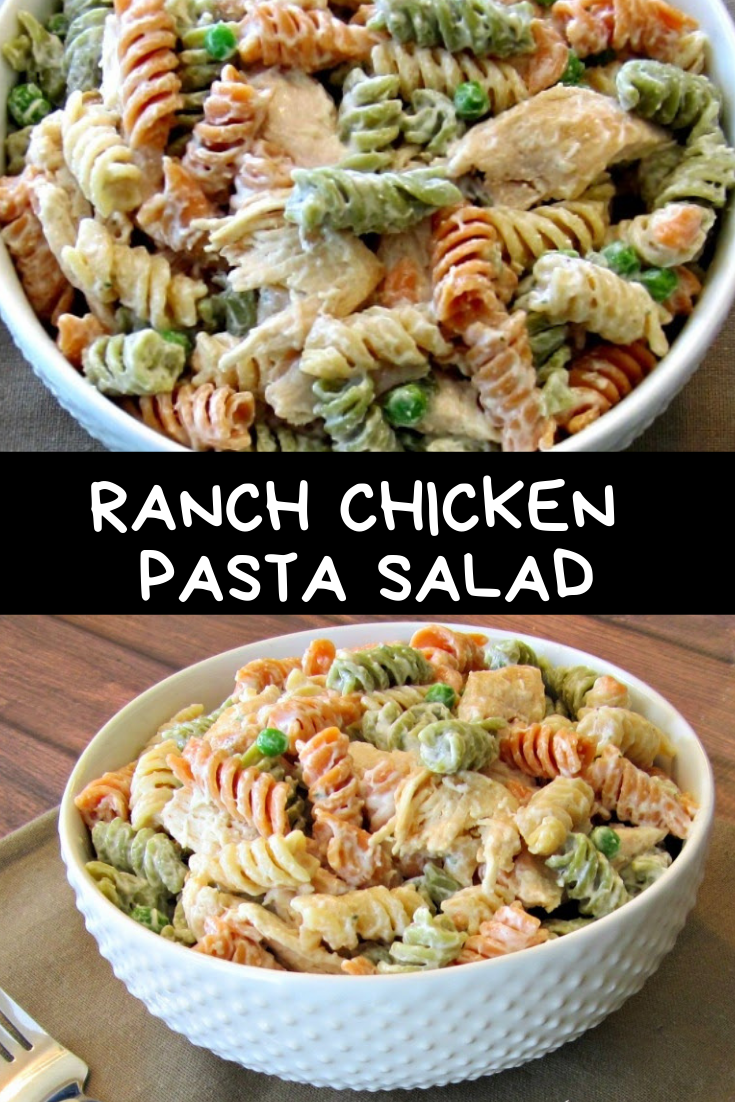 RANCH CHICKEN PASTA SALAD RECIPE