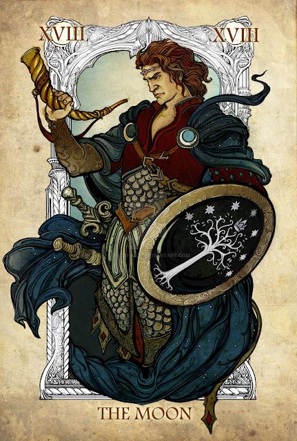 Senhor dos anéis em cartas de tarô - A lua