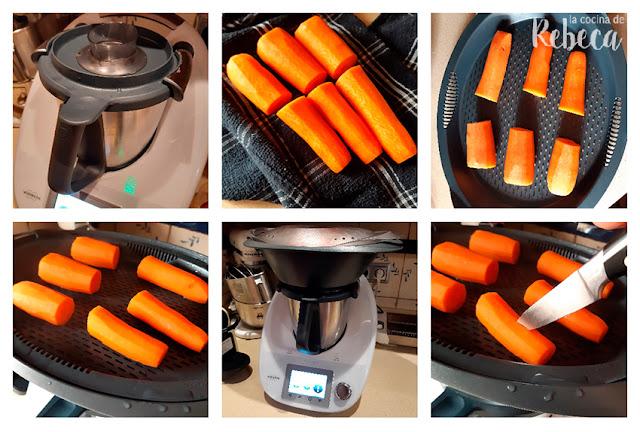 Receta de hummus de zanahoria: cocción de las zanahorias