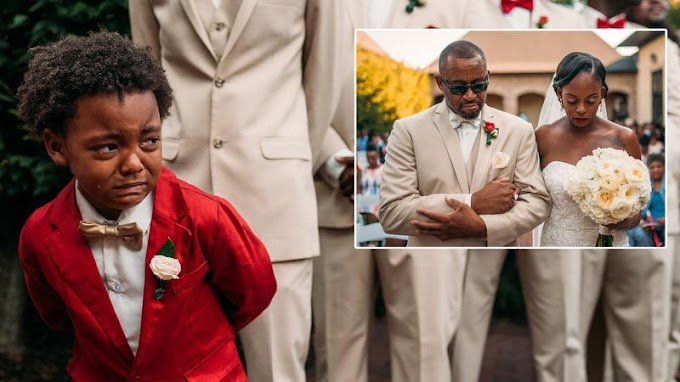 5-Year-Old Cries as He Watches His Mom Walk Down The Aisle