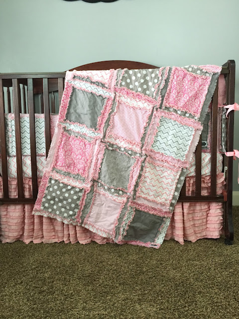Pastel Baby Girl Crib Bedding