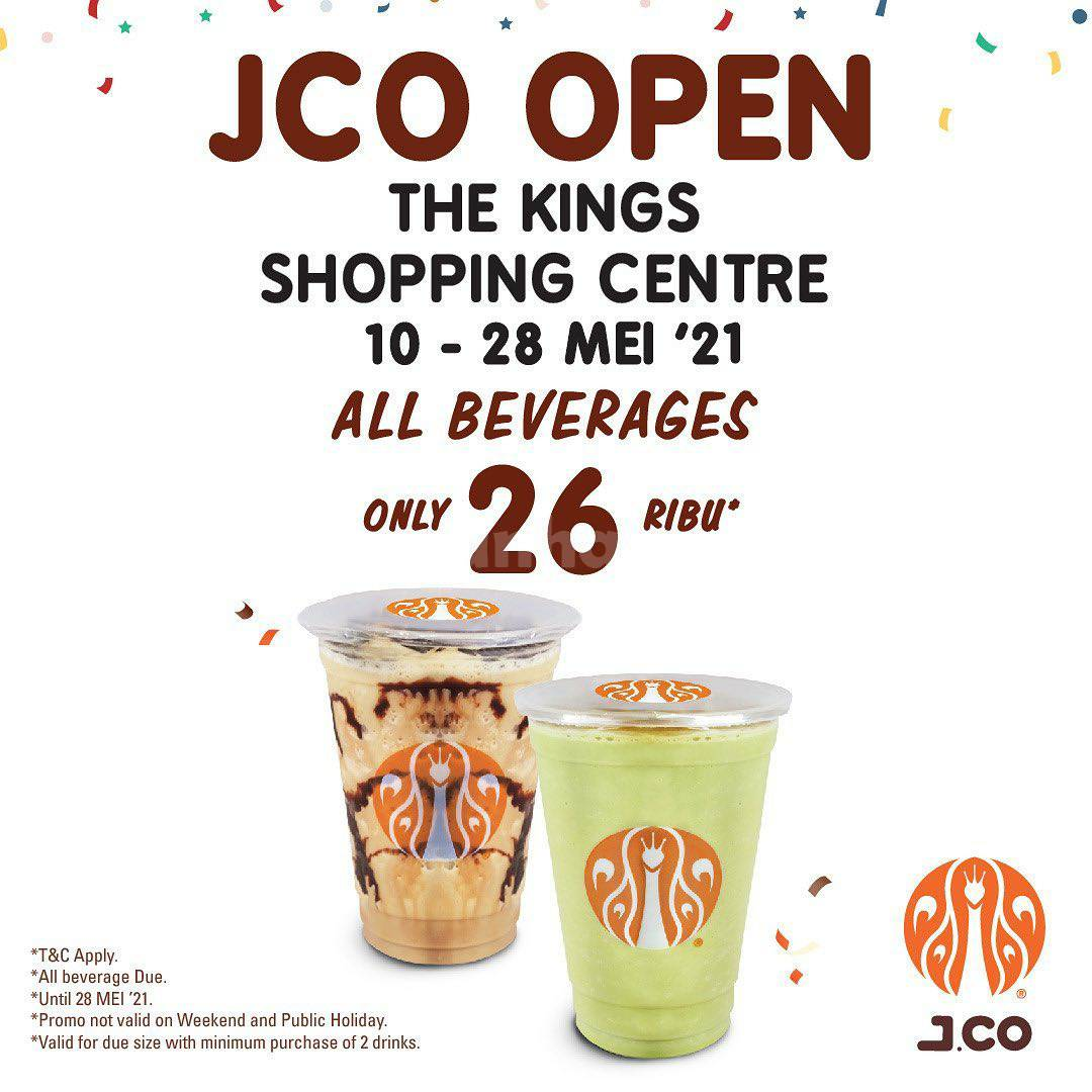 JCO The Kings Shopping Center-Bandung Opening Promo All Beverages 26K