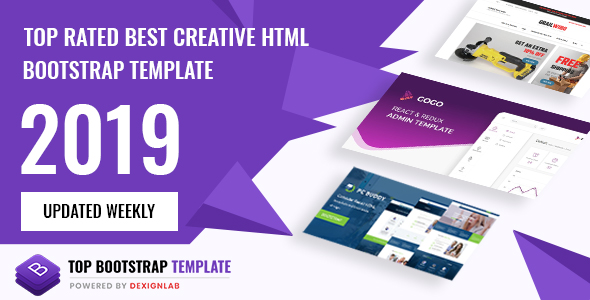 Top Rated Best Selling Bootstrap Template 2019 - Updated Weekly