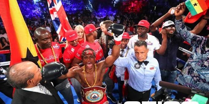 Ghanaian boxer Isaac Dogboe defeats Japanese challenger Hidenori Otake in round one