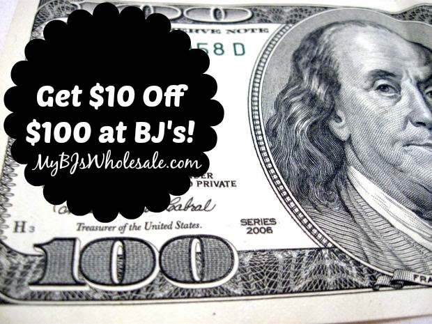 Get $10 off an order of $100 at BJs