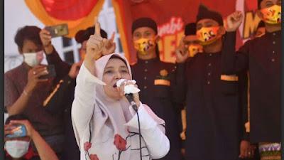 Detik-detik Terakhir Kampanye, Ratu Munawaro Jebol Bassis Petahana
