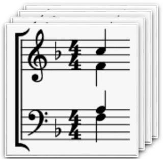 free choir piano or organ multi-part stave sheet music