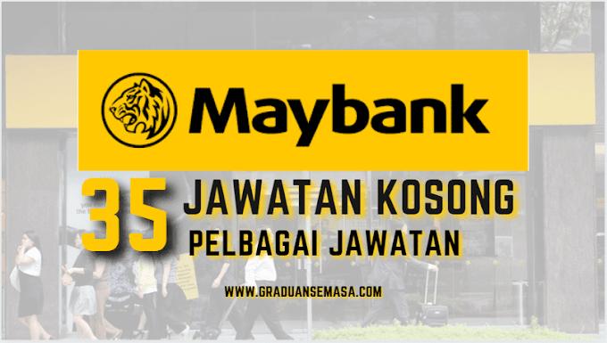 JAWATAN KOSONG 2021 DI MALAYAN BANKING BERHAD (MAYBANK)
