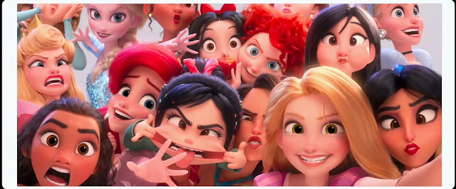 Ralph Breaks the Internet Princesses with Silly Faces