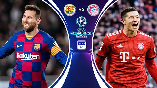 موعد مباراة برشلونة وبايرن ميونخ في دوري أبطال أوروبا والقنوات الناقلة